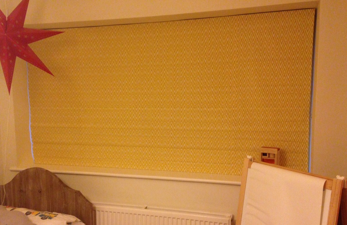 Roman Blind in Sarah Waterhouse Thunderbolt